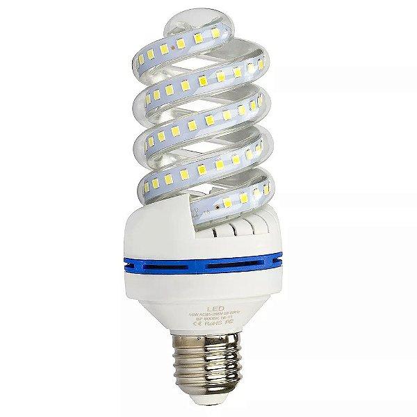 Lâmpada De Milho Espiral 16W LED Bivolt Branco Frio 6000k
