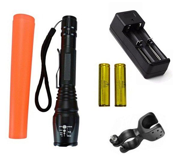Lanterna Tática Police LED T6 Super Forte