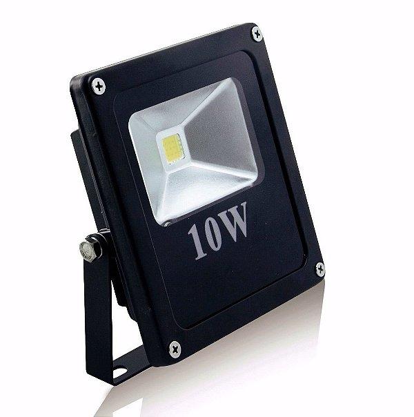 Refletor Holofote LED 10W IP66 A prova D'Água Branco Quente 3000k
