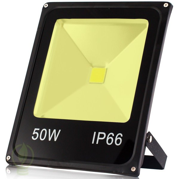 Refletor Holofote LED 50W IP66 A prova D'Água Branco Quente 3000k