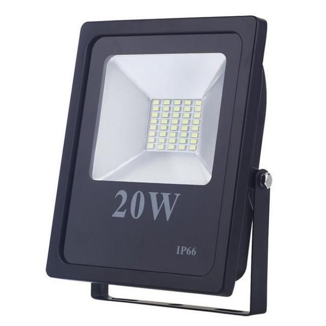 Refletor Holofote LED 20W SMD IP66 A prova D'Água Branco Frio 6000k