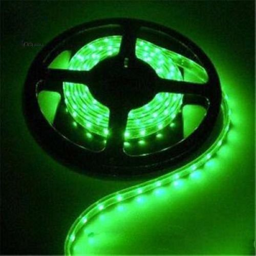 Fita LED 3528 Verde Siliconada Prova D'água 5 Metros + Fonte