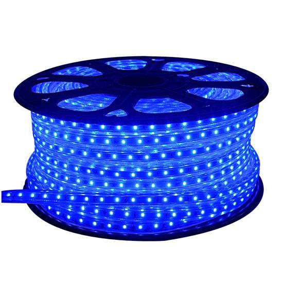 Fita LED 220v 5050 100 Metros Azul A prova D'Água