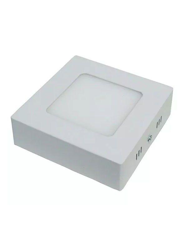 Luminária Plafon LED 3W 8x8 Quadrado De Sobrepor Branco Quente 3000k