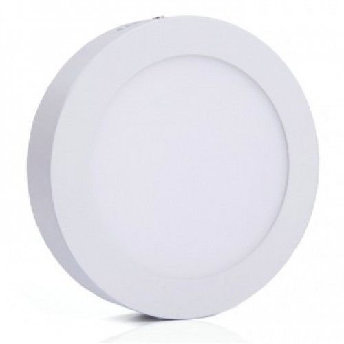 Luminária Plafon LED 12W 17x17 Redondo De Sobrepor Branco Frio 6000k