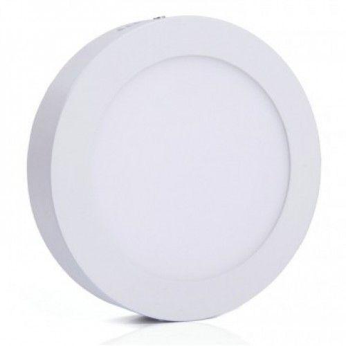 Luminária Plafon LED 12W 17x17 Redondo De Sobrepor Branco Quente 3000k