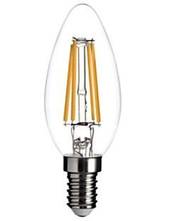 Lâmpada 4W LED Vela E27 Filamento Vintage Branco Quente 2700k