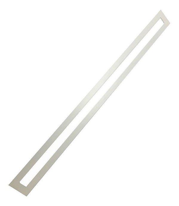 Luminária Plafon LED 30W 10x120 Retangular Embutir Branco Frio 6000k