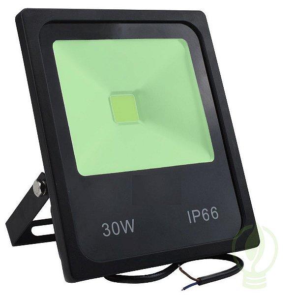Refletor Holofote LED 30w Verde IP65 Jardim