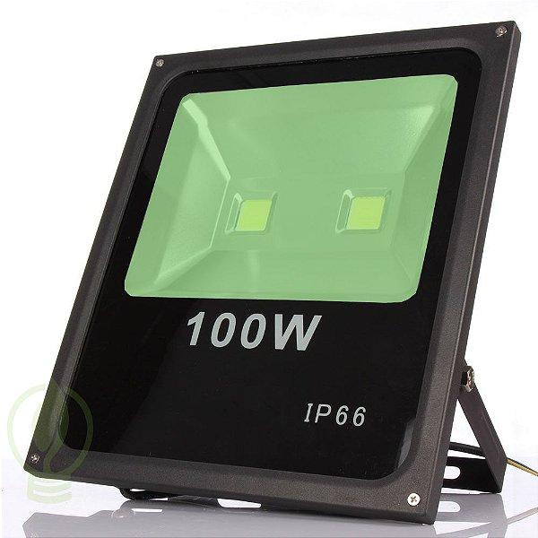 Refletor Holofote LED 100W A Prova D'Água Verde IP66