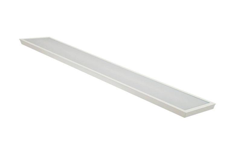 Luminária Plafon LED 30W 10x120 Retangular Sobrepor Branco Frio 6000k