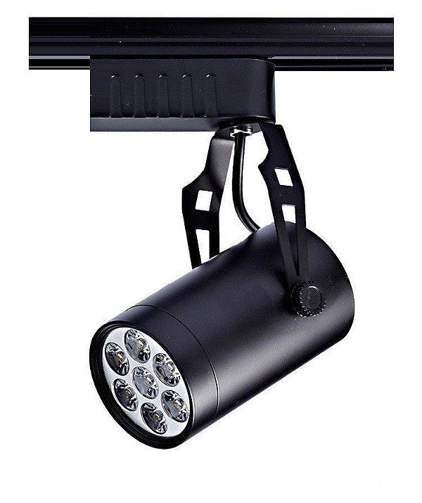 Spot 7W LED Trilho Eletrificado Branco Quente 3000k