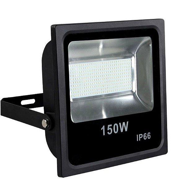 Refletor Holofote LED 150W SMD A prova D'Água IP66 Branco Frio 6000k