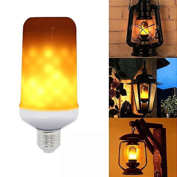 Lâmpada 5W LED Chama De Fogo Soquete E27 Bivolt 1900k