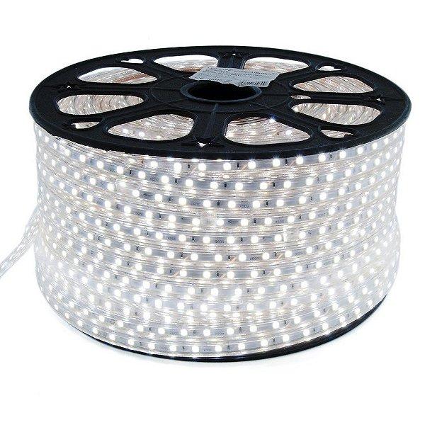 Fita LED 110v 5050 100 Metros Branco Frio 6000k A prova D'Água