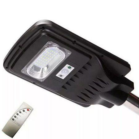 Luminária Publica De Poste Solar 20W LED 12/24v Com Sensor e Controle