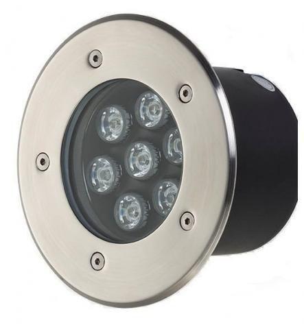 Spot Balizador LED 7W Embutir Para chão Jardim e Piso Branco Frio IP67 A Prova D'Agua