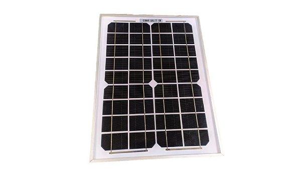 Painel Placa Solar 10W Energia Célula Fotovoltaica