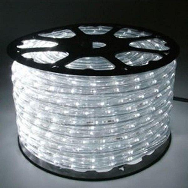 Mangueira LED 100 metros 220v Achatada Branco Frio Ultra Intensidade - A prova D'água