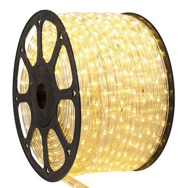 Mangueira LED 100 metros 220v Achatada Branco Quente Ultra Intensidade - A prova dágua
