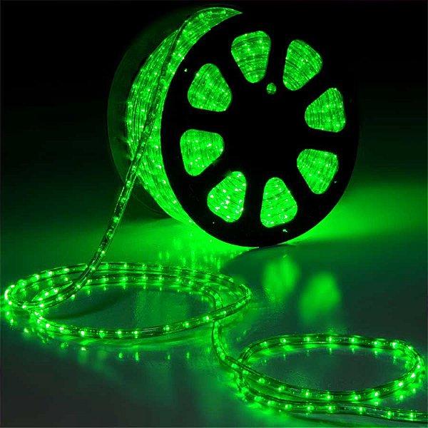 Mangueira LED 100 metros 220v Verde Ultra Intensidade - A prova dágua
