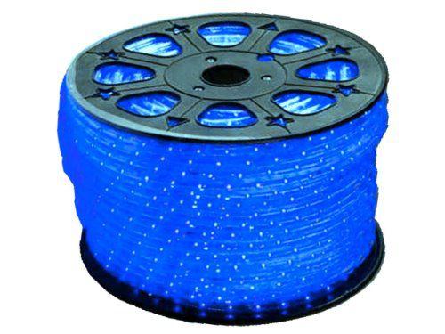 Mangueira LED Achatada Azul 100 metros 110v Ultra Intensidade - A prova dágua