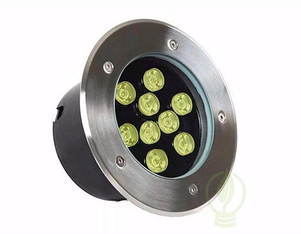 Spot Balizador LED 9W Embutir Para chão Jardim e Piso Branco Quente IP67 A Prova D'Agua