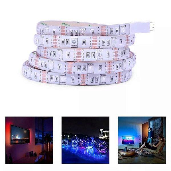 Fita LED RGB Multicolorido Usb 3 Metros Tv Computador