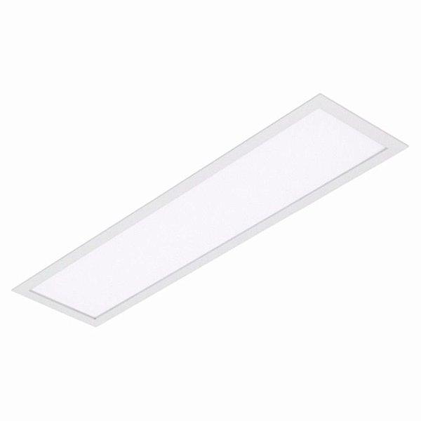 Luminária Plafon LED 18W 10x60 Retangular Embutir Branco Frio 6000k