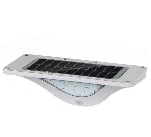 Luminária Solar LED 16 Leds Sensor de Movimento Branco Frio 6000k A Prova D'Água