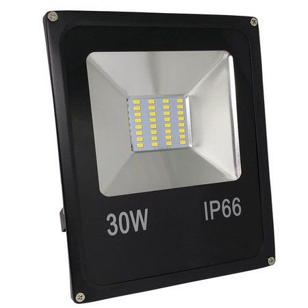 Refletor Holofote LED 30W SMD IP66 A prova D'Água RGB Multicolorido Com Controle