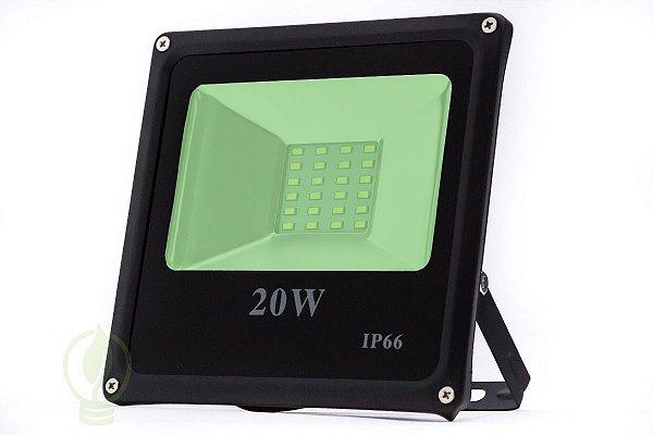 Refletor Holofote LED 20W SMD IP66 A prova D'Água Verde