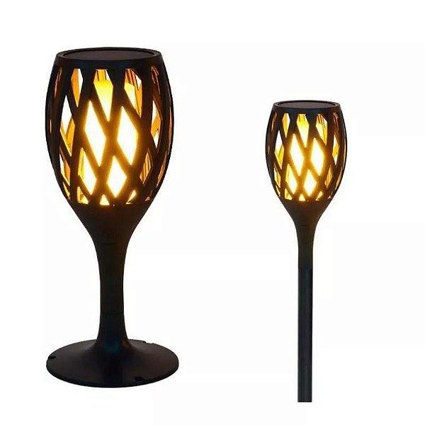 Tocha Solar LED Arandela Lâmpada Com Efeito De Chama Fogo