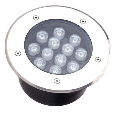 Spot Balizador LED 12W Embutir Para chão Jardim e piso Branco Frio IP67 A Prova D'Agua