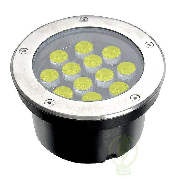 Spot Balizador LED 12W Embutir Para chão Jardim e Piso Branco Quente IP67 A Prova D'Agua