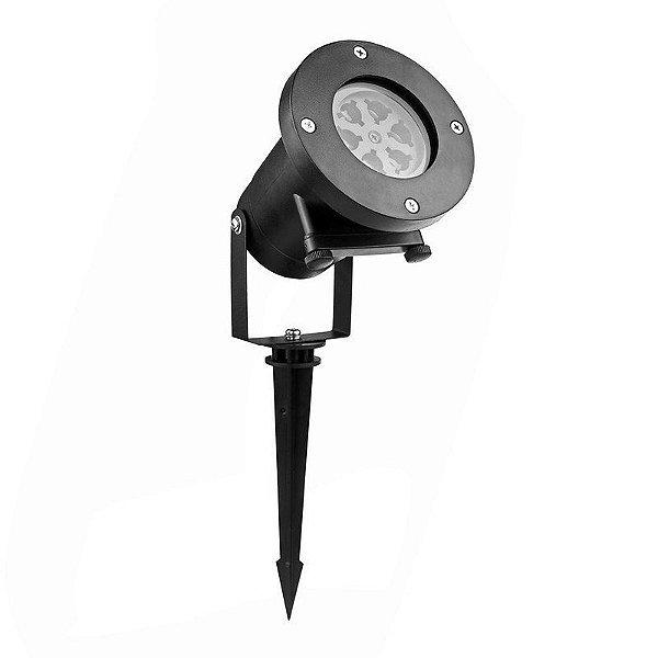 Luminária Projetor LED 5W Espeto de Jardim Laser Natal Nevada colorido