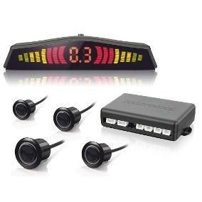 Sensor De Estacionamento Ré Display LED Sinal Sonoro Cor Preto