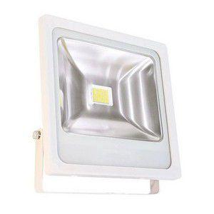 Refletor Holofote 50W LED IP66 A prova D'Água Branco Frio 6000k Carcaça Branca