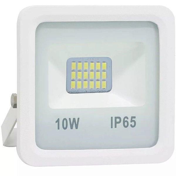 Refletor Holofote LED 10W SMD A prova D'Água IP65 Branco Frio 6000k