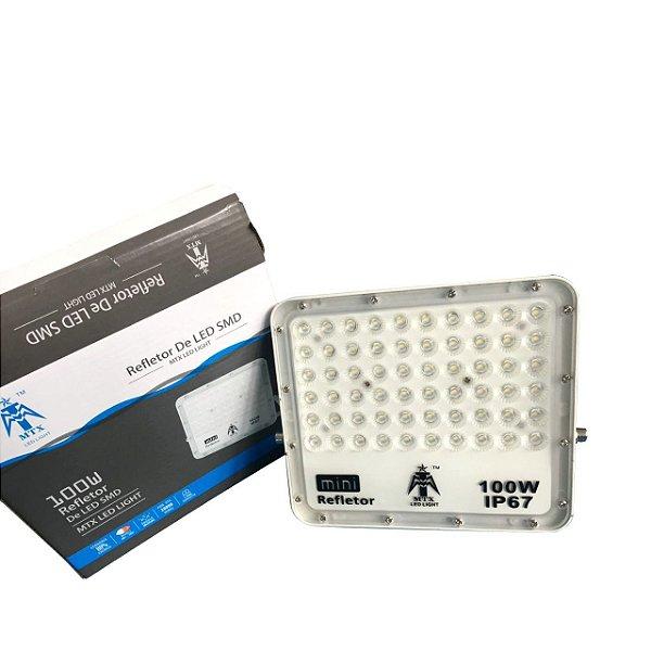Refletor Holofote LED 100W SMD IP65 A prova D'Água Branco Frio 6000k