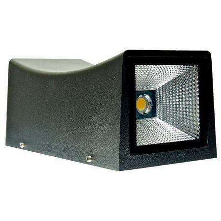 Luminária Arandela LED 20W A prova d'agua IP66 Branco Frio - Retangular