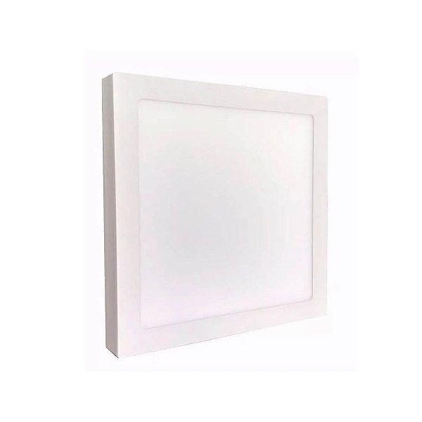 Luminária Plafon Led 42w 40x40 Quadrado Sobrepor Branco Frio 6000k