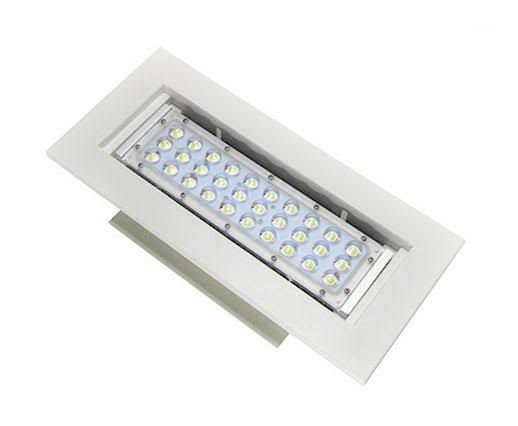 Luminária LED 50W Posto de Gasolina Branco Frio 6000k