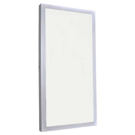 Luminária Plafon Led 48w 30x60 Retangular de Sobrepor Branco Quente 3000k