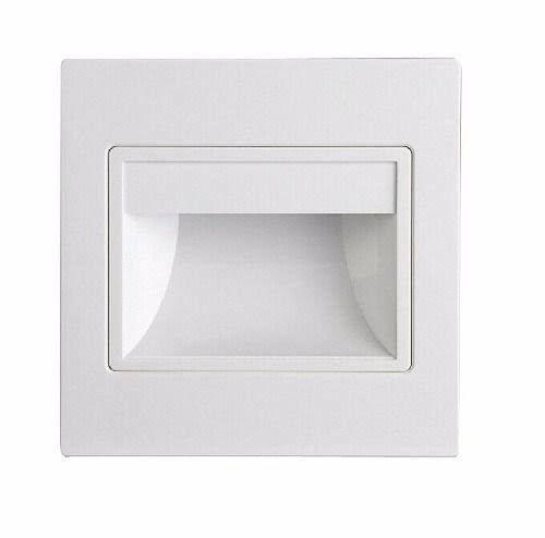 Balizador LED 3W De Embutir Quadrado Branco Frio 6000k