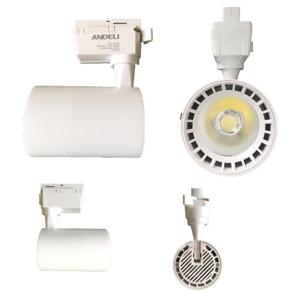 Spot 10W LED Branco para Trilho Eletrificado Branco Frio 6000k