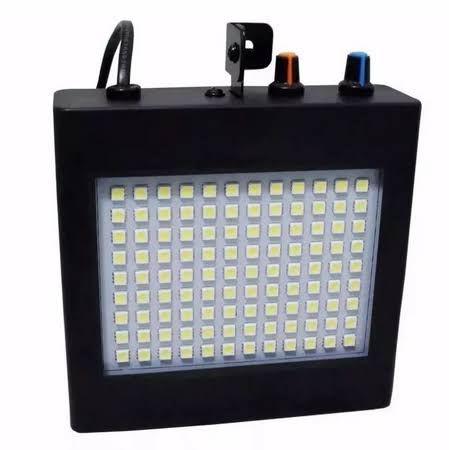 Refletor Holofote LED Strobo 25W 108 Leds Branco Frio para Festa