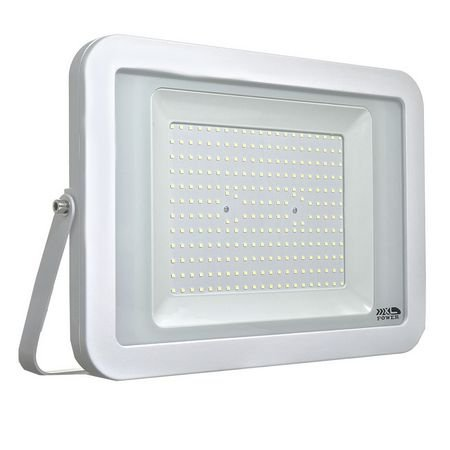 Refletor MicroLED Ultra Thin 200W White Type Branco Frio 6000k Carcaça Branca
