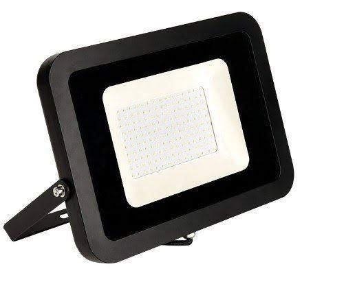 Refletor MicroLED Ultra Thin 150W Black Type Branco Frio 6000K