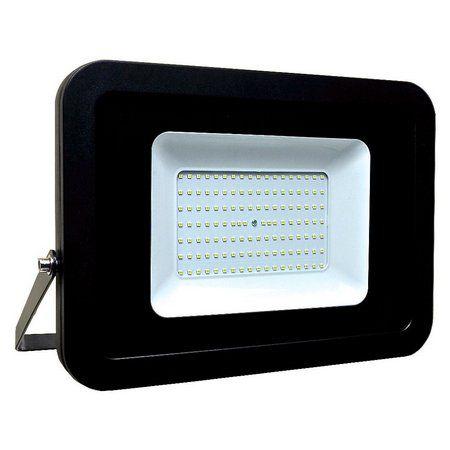 Refletor MicroLED Ultra Thin 150W Black Type Branco Frio 6000K Carcaça Preta